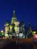 Noche Moscú Foto de archivo libre de regalías