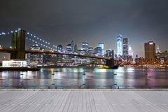 Noche Nueva York Foto de archivo