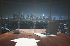 Noche NY del ordenador portátil libre illustration