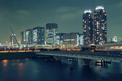 Noche Odaiba, Tokio Foto de archivo libre de regalías
