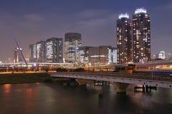 Noche Odaiba, Tokio Fotografía de archivo libre de regalías