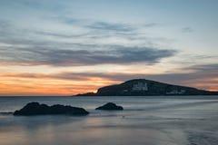 Noche perfecta en la playa Imágenes de archivo libres de regalías