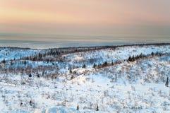 Noche polar en tundra Fotografía de archivo