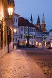 Noche Praga Fotos de archivo libres de regalías