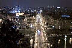 Noche Praga Imágenes de archivo libres de regalías
