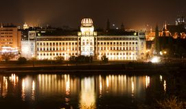 Noche Praga foto de archivo libre de regalías