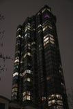 Noche residencial de lujo de la casa foto de archivo