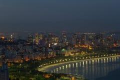 Noche Rio de Janeiro Fotografía de archivo libre de regalías