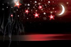 Noche roja Foto de archivo libre de regalías