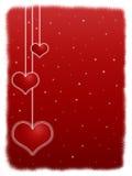 Noche roja de la tarjeta del día de San Valentín Foto de archivo