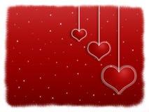 Noche roja de la tarjeta del día de San Valentín Imagen de archivo