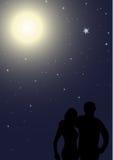Noche romántica stock de ilustración