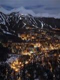 Noche rural de la nieve Imagenes de archivo