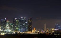 Noche Singapur Foto de archivo libre de regalías