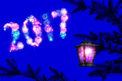 Noche soñadora del día de fiesta Imagen de archivo