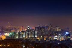 Noche sobre Almaty Imagen de archivo libre de regalías