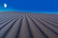 Noche sobre la duna Imagen de archivo libre de regalías