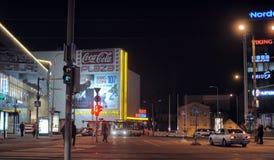 Noche Tallinn Imagen de archivo libre de regalías