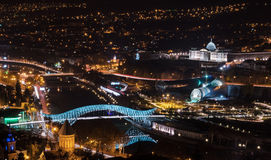 Noche Tbilisi Foto de archivo libre de regalías