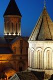 Noche Tbilisi vieja Foto de archivo libre de regalías