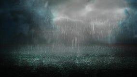 Noche tempestuosa en el asfalto 4K almacen de metraje de vídeo