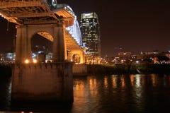 Noche tempestuosa en Nashville Imágenes de archivo libres de regalías