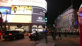 Noche Timelapse - la curva del circo de Piccadilly almacen de video