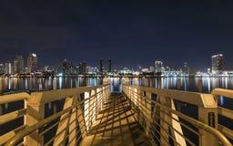 Noche tirada de San Diego céntrico fotos de archivo libres de regalías