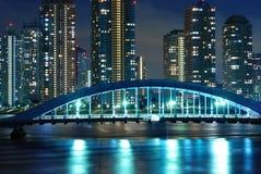 Noche Tokio fotografía de archivo