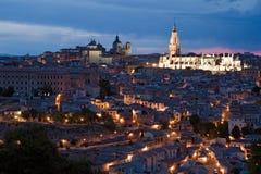 Noche Toledo imagen de archivo