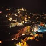 Night at Guanajuato. Noche tranquila en Guanajuato, Mexico stock photo