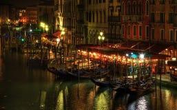 Noche veneciana Imagen de archivo libre de regalías