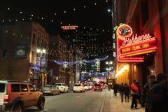 Noche Vieja Detroit Imagen de archivo libre de regalías