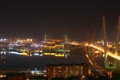 Noche Vladivostok Fotografía de archivo