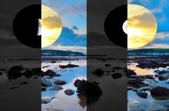 Noche y día Fotografía de archivo