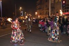 Noche y desfile de la hoguera de Hastings 15 de octubre de 2017 Foto de archivo