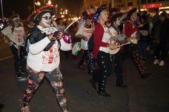 Noche y desfile de la hoguera de Hastings 15 de octubre de 2017 Imagenes de archivo