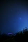 Noche y estrellas Fotos de archivo