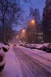 Noche y nieve p1 Imágenes de archivo libres de regalías