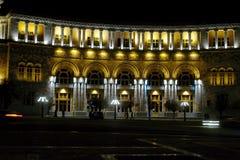 Noche Yerevan Imágenes de archivo libres de regalías