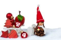 Nochebuena de la decoración de la Navidad Foto de archivo libre de regalías