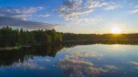 Noches blancas Finlandia imágenes de archivo libres de regalías