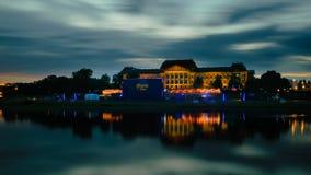 Noches de la película de Dresden en el Elba Imagen de archivo