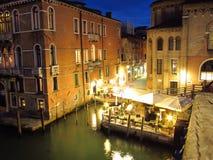 Noches de Venecia Imágenes de archivo libres de regalías