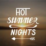 Noches de verano calientes Imágenes de archivo libres de regalías