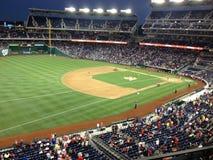 Noches del béisbol Fotografía de archivo libre de regalías