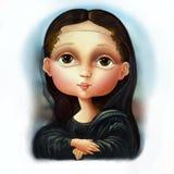 Nochmals besuchen von Mona Lisa Lizenzfreie Stockbilder