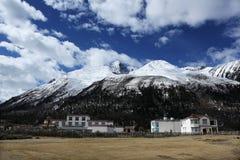 Nochtans meerlandschap in Tibet Royalty-vrije Stock Foto's