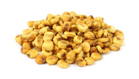 Noci del cereale su priorità bassa bianca Fotografia Stock Libera da Diritti