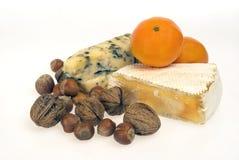 Noci della frutta del formaggio Immagine Stock Libera da Diritti